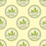 Bio farm organic eco healthy food seamless pattern vintage vegan  Stock Photos