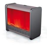 Bio fireplace convex steel frame. Illustration render, bio fireplace convex steel frame Royalty Free Stock Photos