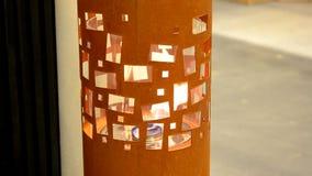 Bio fireplot moderno no close-up do gás do álcool etílico vídeos de arquivo