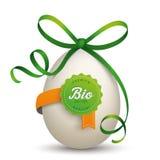 Bio fita Eier do verde do ovo da etiqueta ilustração royalty free