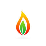 Bio flame energy organic logo Royalty Free Stock Image