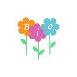Bio fleurs de logo Photos stock