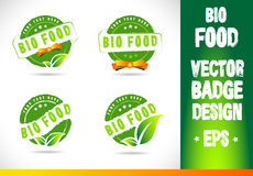 Bio food Badge Logo Vector Royalty Free Stock Image