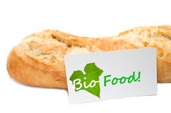 Bio Food concept from a bakery Royalty Free Stock Photography