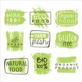 Bio Food Green Lables Set Royalty Free Stock Photo