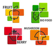 Bio food icons Stock Photo