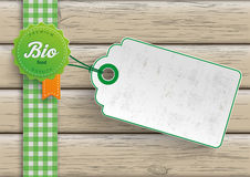 Bio Food Label Price Sticker Royalty Free Stock Photography
