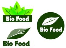 Bio food label or sticker Royalty Free Stock Photography