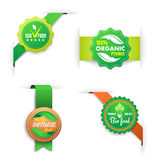 Bio food labels Royalty Free Stock Photography