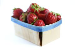 Bio food - strawberries Stock Photography