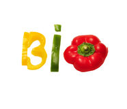 Bio food text Royalty Free Stock Images