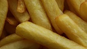 Bio french fries. Food for fast food stock footage
