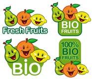 Bio Fruit Characters Royalty Free Stock Photos