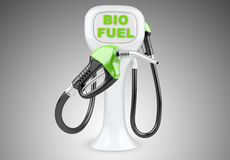 Bio fuel concept with nozzle. Royalty Free Stock Images
