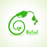 Bio fuel concept with nozzle Royalty Free Stock Photos