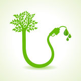 Bio fuel concept with nozzle and tree Stock Photo