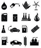 Bio fuel energy icons set Royalty Free Stock Photo