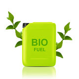 Bio fuel  gallon. Green Gallon of bio fuel, environment conceptual design.  (with clipping work path Royalty Free Stock Photography