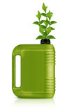 Bio fuel  gallon. Green Gallon of bio fuel, environment conceptual design.  (with clipping work path Stock Images