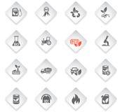 Bio fuel icon set. Bio fuel flat web icons for user interface design Stock Photo