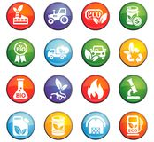 Bio fuel icon set Royalty Free Stock Photo