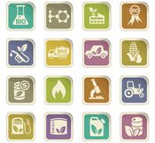 Bio fuel icon set Royalty Free Stock Image