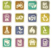 Bio fuel icon set Royalty Free Stock Photos