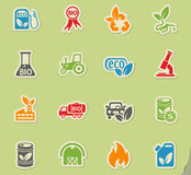 Bio fuel icon set Royalty Free Stock Photography