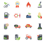 Bio fuel icon set. Bio fuel web icons for user interface design Royalty Free Stock Photography