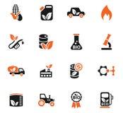Bio fuel icon set. Bio fuel web icons for user interface design Stock Photography