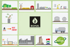 Bio fuel icon. What, how is bio fuel Royalty Free Stock Images