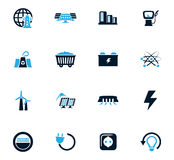 BIO Fuel industry icons set Royalty Free Stock Image