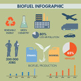 Bio fuel infographic Stock Image
