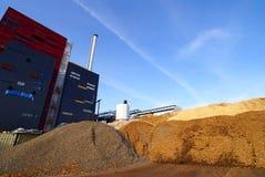 Bio fuel power plant. Storage against blue sky Stock Images
