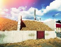 Bio fuel power plant Royalty Free Stock Image
