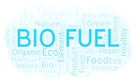 Bio Fuel word cloud. Wordcloud made with text only royalty free illustration