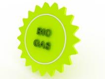 Bio- gas della stella verde illustrazione vettoriale