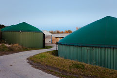 Bio gas facility for green energy generation. Bio gas facility for biologically fermenting silage and other organic matter to biogas for environmental friendly Stock Images