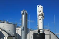 Bio gas factory Stock Image