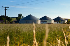 Bio gas plant in a field Stock Photos