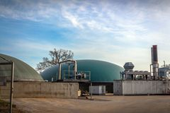 Bio gas plant Stock Photos