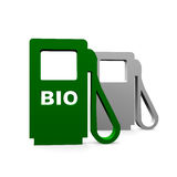 Bio gas station. In green color Royalty Free Stock Images