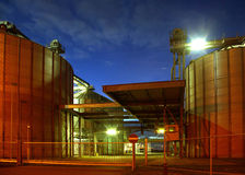 Bio gasoline storage tanks Stock Photos