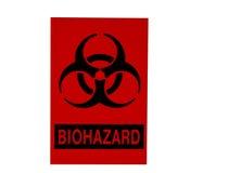 Bio-Gefahr Zeichen getrennt auf Weiß Stockfotografie