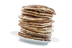 Bio gezonde ingrediënten, glutten-Vrije pannekoeken op binnenlandse achtergrond Stock Foto