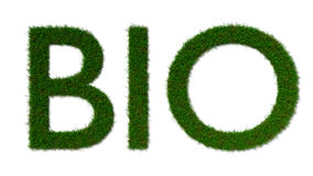 Bio grass sign isolated on whit Royalty Free Stock Images