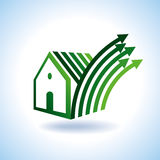 BIO GREEN HOUSES ICONS IN RURAL SENSE. BIO GREEN HOUSES ICONS, VECTOR vector illustration