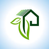 BIO GREEN HOUSES ICONS IN RURAL SENSE. BIO GREEN HOUSES ICONS,VECTOR royalty free illustration