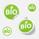 Bio green labels Royalty Free Stock Photography