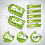 Bio Green Labels And Tags Stock Images